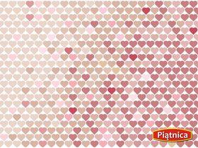 różowe serca