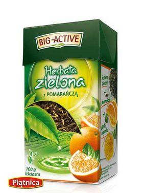 big active herbata zielona z pomarańczą